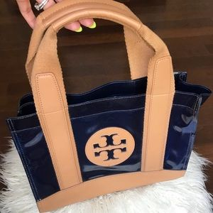 Tory Burch jelly and leather signature purse